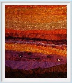 vibrant silk wall art