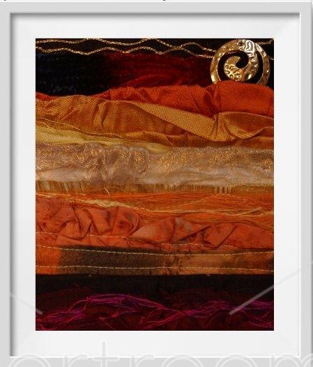 silk textile wall hanging