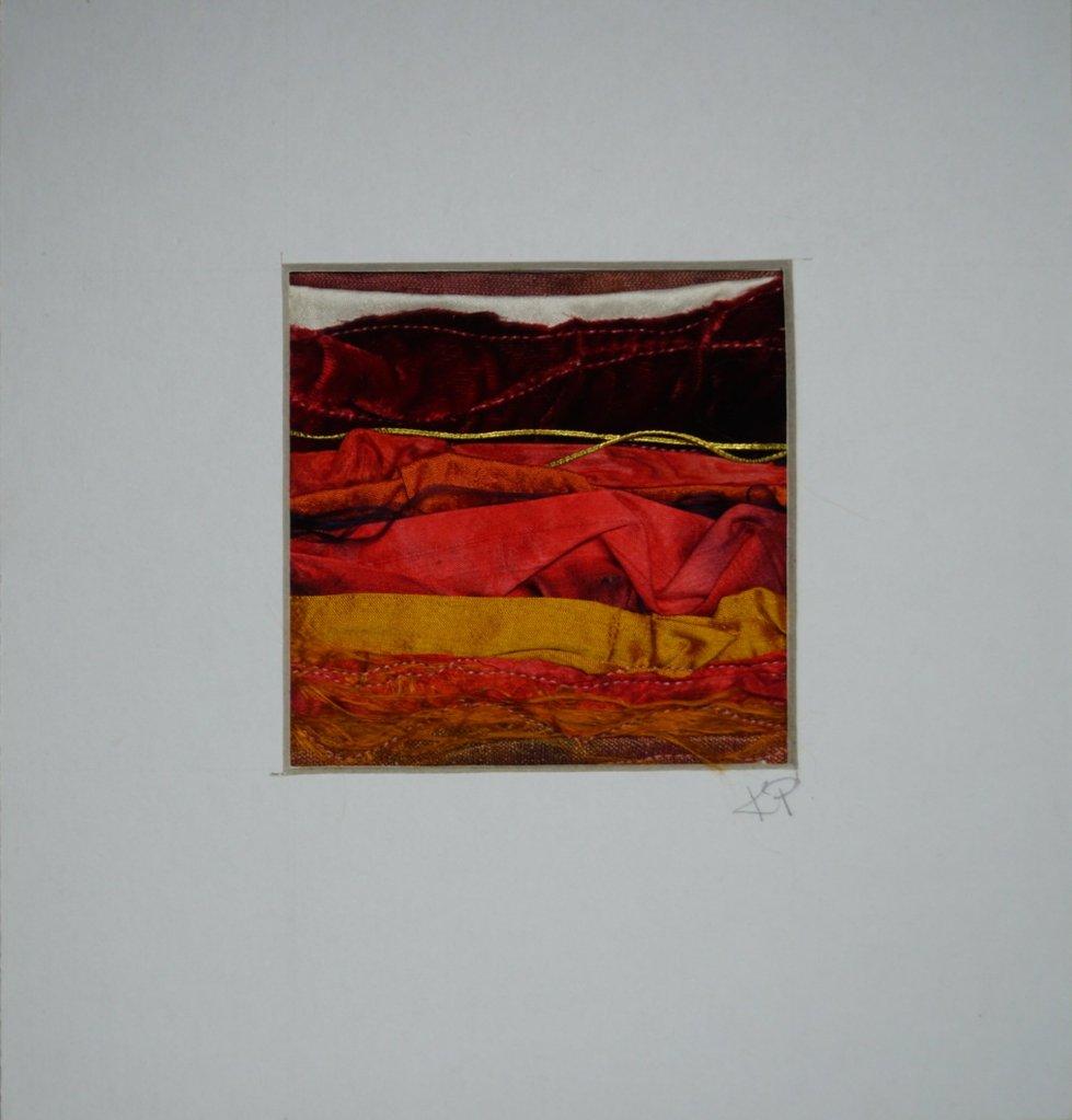 silk textile of a desert inspired scene