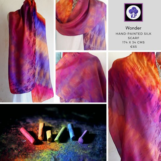 long silk scarf